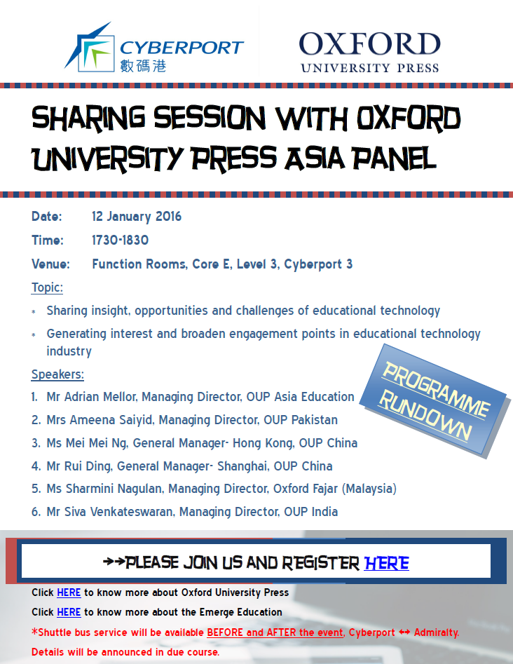 Sharing Session with Oxford University Press Asia Panel