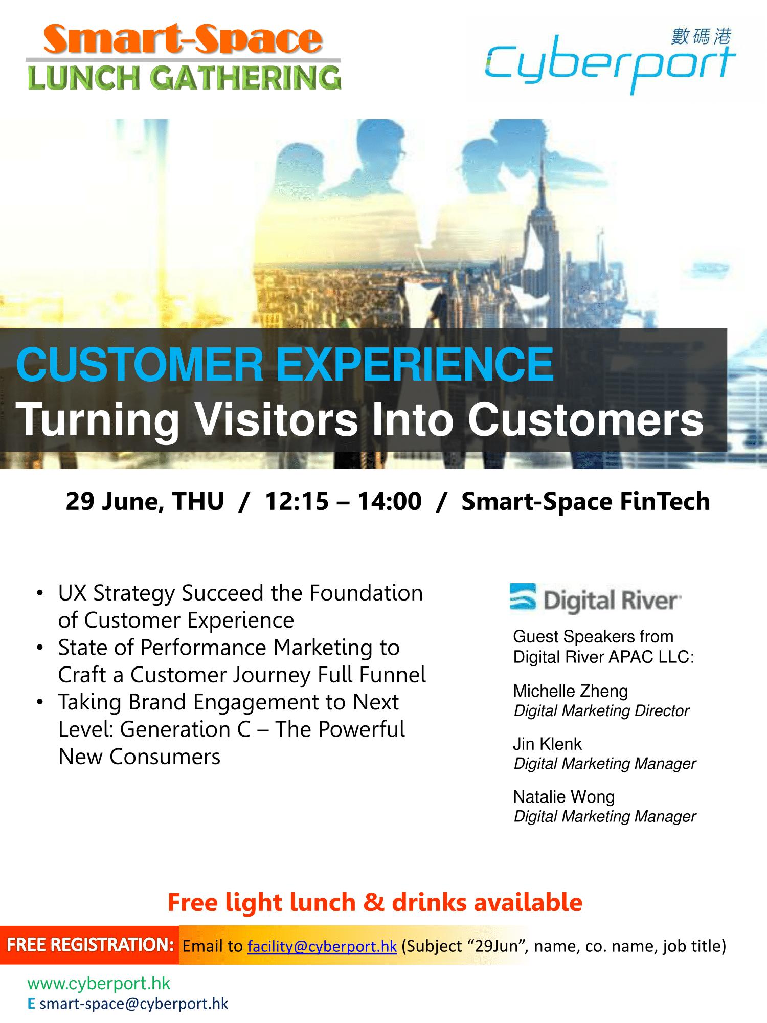 Smart-Space Lunch Gathering: Customer experience-centric approach to turn visitors into customers
