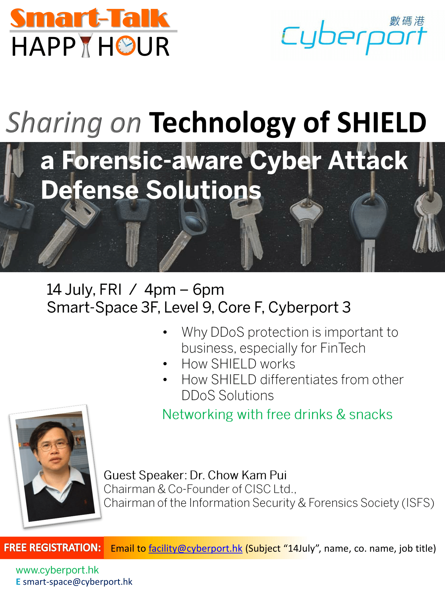 Smart Talk & Happy Hour: Technology of SHIELD - a Forensic-aware Cyber Attack Defense Solutions